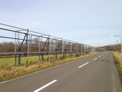 防雪柵が設置されている道路