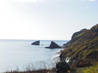 浦雲泊の集落からの眺め